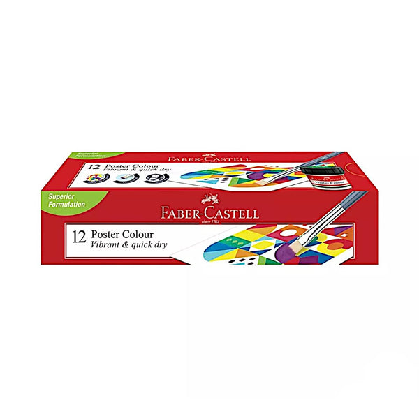 Faber Castell 12 Poster Colour Paint