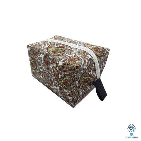Handmade Storage Pouch | Brown Floral