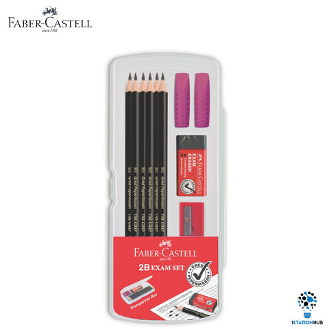 Faber Castell Tri-Grip 2B Pencil Exam Set