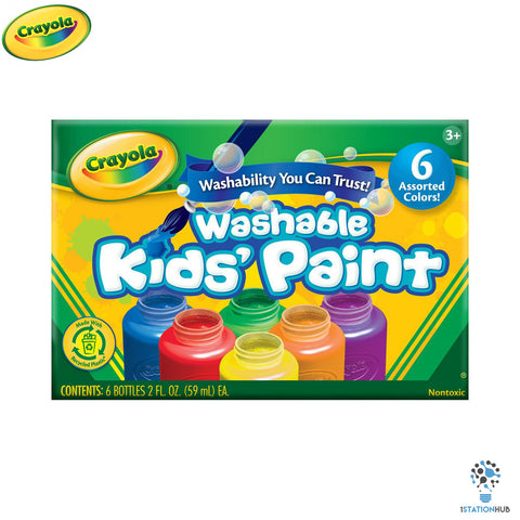 Crayola Washable Kids Paint | 6 Classic Colours