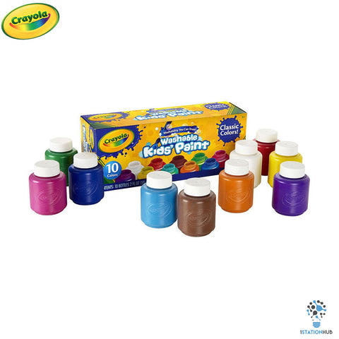 Crayola Washable Kids Paint | 10 Classic Colours