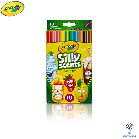 Crayola Silly Scents Slim Washable Markers - 10 Colours