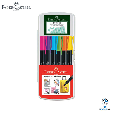 Faber Castell Permanent Marker + Tack It | Creative Set