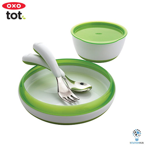 Oxo Tot 4pc Toddler Feeding Set | Green