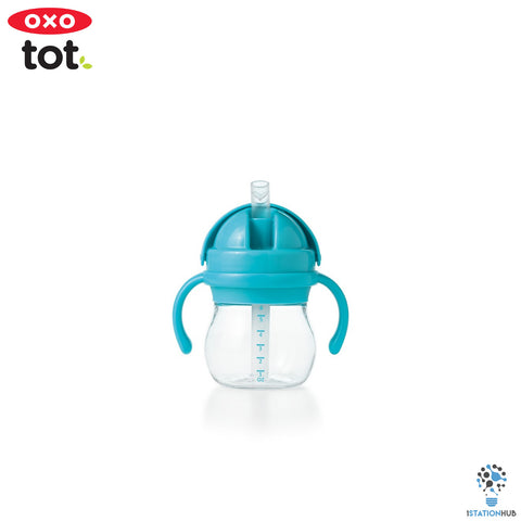 Oxo Tot Grow Straw Cup with Handles | 200ml - Aqua