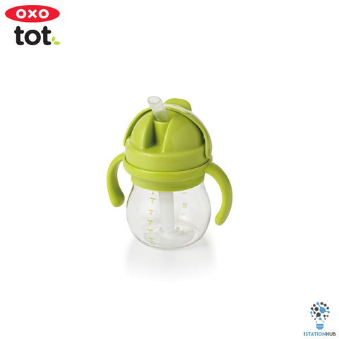 Oxo Tot Grow Straw Cup with Handles | 200ml - Green