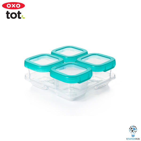 Oxo Tot Baby Blocks Freeser Storage Containers | 4pc 6OZ - Teal