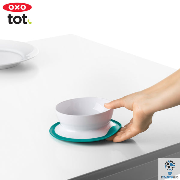OXO TOT Stick & Stay Suction Bowl - Teal