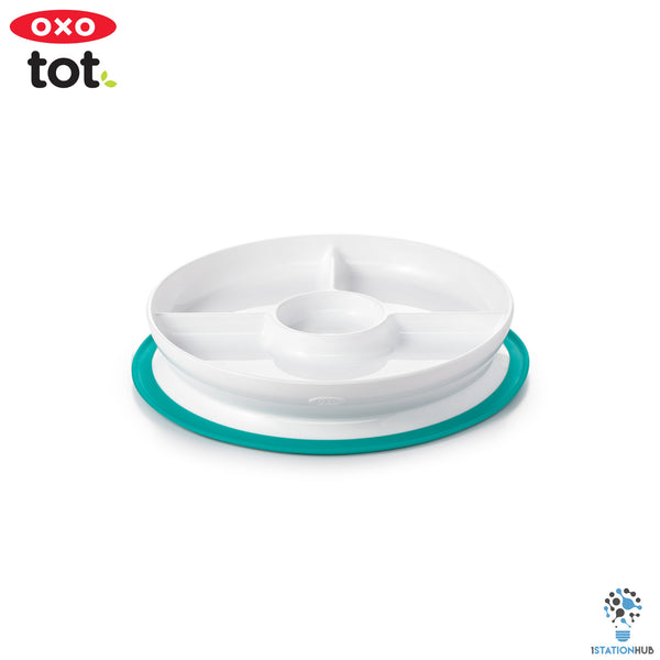 OXO TOT Stick & Stay Suction Plate - Teal