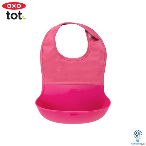 Oxo Tot Roll Up Bib | Pink