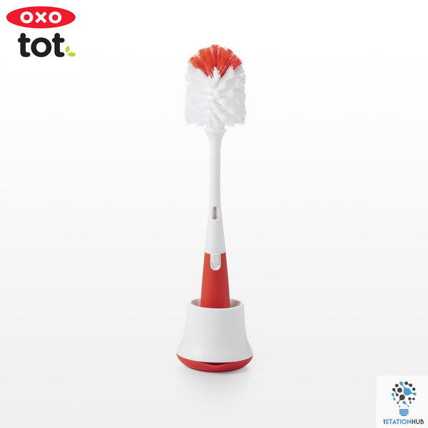 Oxo Tot Bottle Brush with Stand | Orange