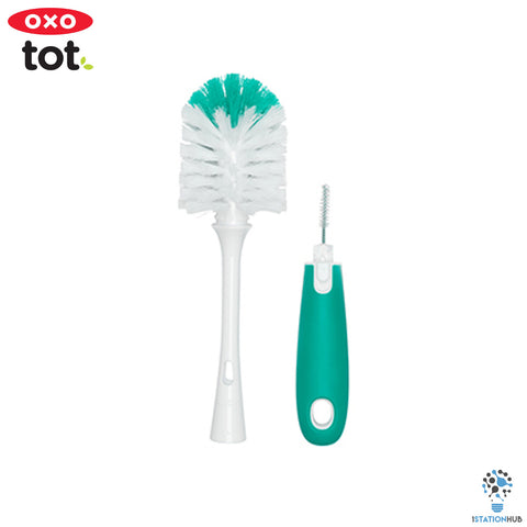 Oxo Tot Bottle Brush with Stand | Teal