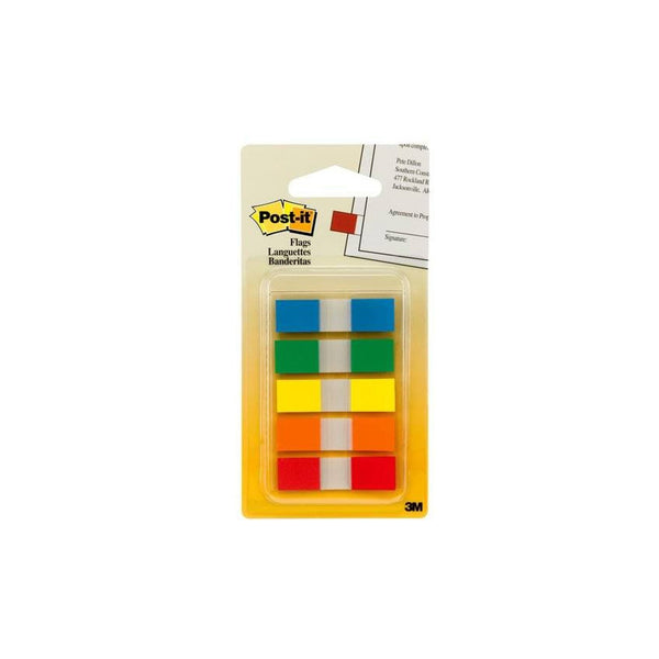 3M Post-it Page Flags | 5 Basic Colours