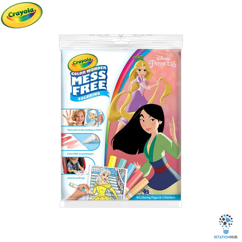 Crayola Colour Wonder | 18 pages + 5 Colour Wonder Markers | Disney Princess