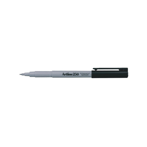 Artline 250 0.4mm Permanent Marker | Pack of 6 Pens - Black