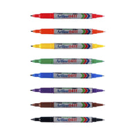 Artline EK-041T Twin Tip Permanent Marker | 8 Colours
