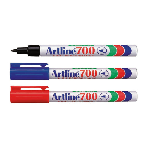 Artline 700 High Performance Permanent Marker | 0.7mm | 3 Colour Set