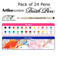 Artline Supreme Brush Pens | Pack of 24 Colours