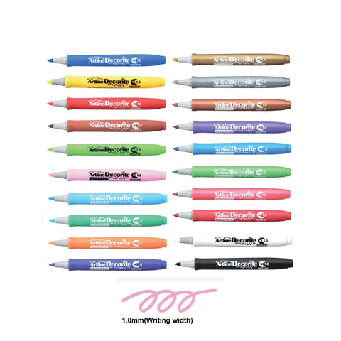 Artline Decorite Marker | Bullet Style - Pack of 20 Pens