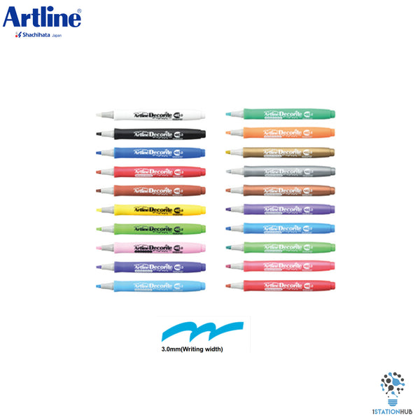 Artline Decorite Marker | Flat Style - Pack of 20 Pens