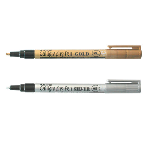 Artline 993XF Metallic Permanent Marker | Gold & Silver