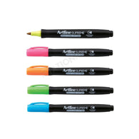 Artline Supreme UV Light Glow | 5 Permanent Colour Marker Pen