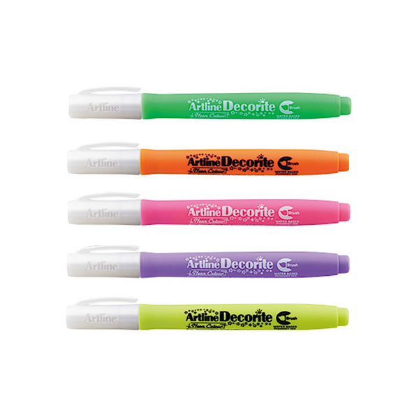 Artline Decorite Neon Markers | Brush Style