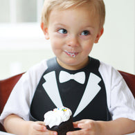 Make My Day Baby Bib | Lookin' Dapper Tuxedo