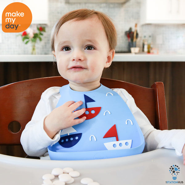 Make My Day Baby Bib | Yacht