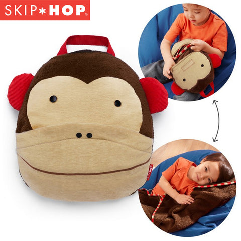 Skip Hop Zoo Travel Blanket - Monkey