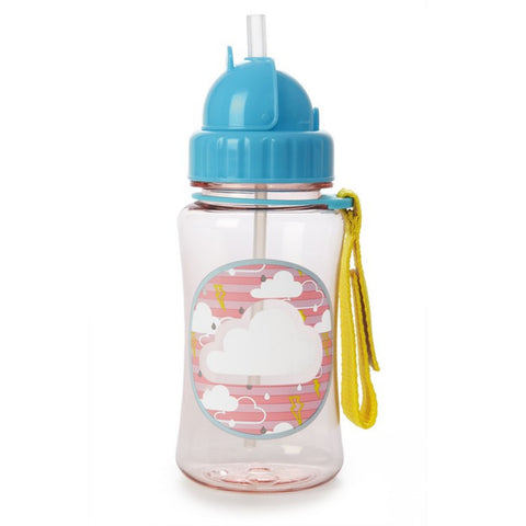 Skip Hop Forget Me Not Straw Bottle - Cloud