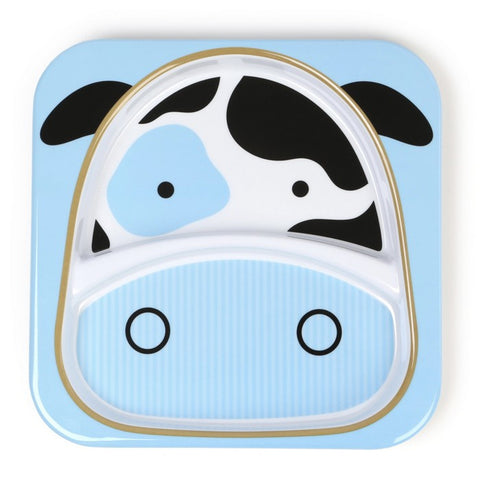 Skip Hop Zoo Divided Plate - Cow