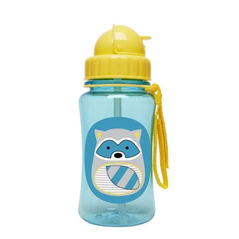Skip Hop Forget Me Not Straw Bottle - Racoon