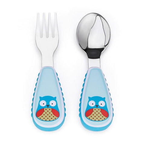 Skip Hop Zoo Utensil Set | Fork & Spoon | Owl