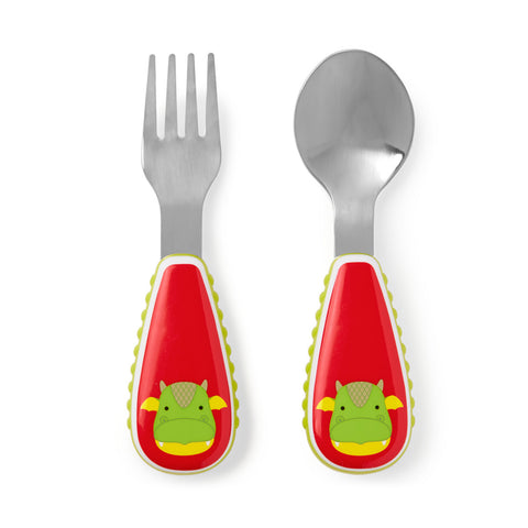 Skip Hop Zoo Utensil Set | Fork & Spoon | Dragon