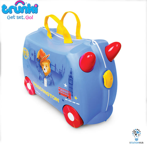 Trunki Ride on Kids Luggage - Paddington Bear