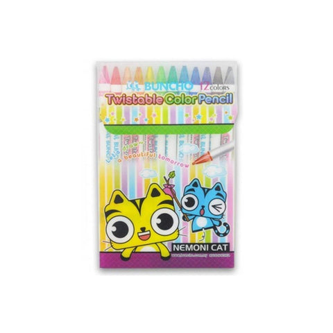 Buncho Twistable Colour Pencil | Pack of 12