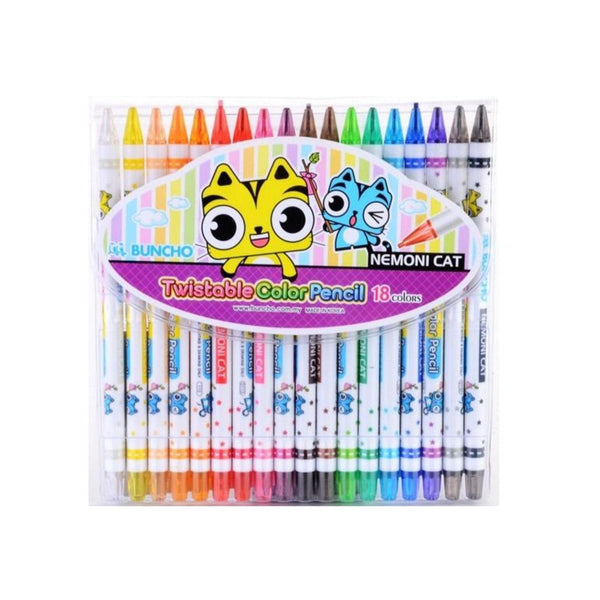 Buncho Twistable Colour Pencil | Pack of 18