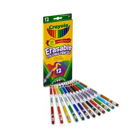 Crayola Erasable Colour Pencil | 12 Nontoxic Pencils
