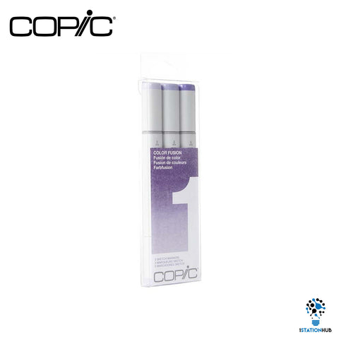 Copic Sketch 3pcs Colour Fusion Set Markers | Set 1 (Purple)