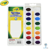 Crayola Washable Watercolors with Paint Brush | 16 Colours