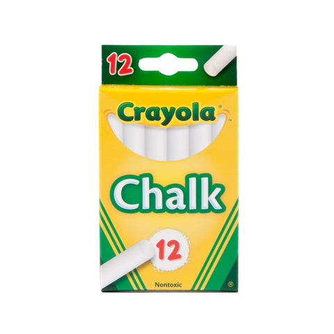Crayola Classic White Chalks | 12 Nontoxic Chalk Sticks