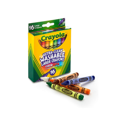 Crayola Ultra-Clean Large Crayons | 16 Washable Non Toxic Crayon