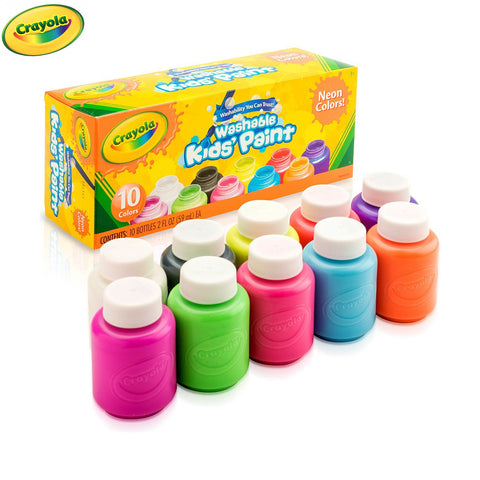 Crayola Washable Kids Paint | 10 Neon Colours