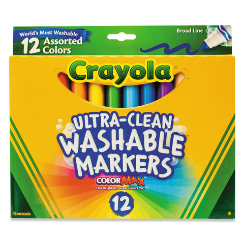 Crayola Ultra-Clean Classic Colours | 12 Washable Markers