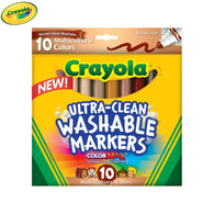 Crayola Ultra-Clean Broad Line Markers | Multicultural Colours