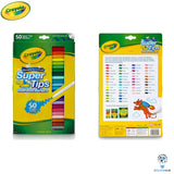 Crayola SuperTips | Nontoxic Washable Markers | Pack of 50 Pens