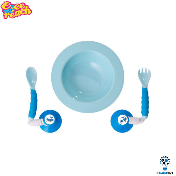 Ezee Reach Stay-Put Cutlery Bowl | Blue Car