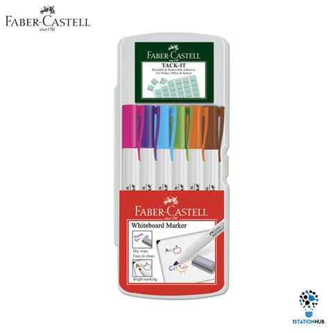 Faber Castell Whiteboard Marker + Tack It | Creative Set