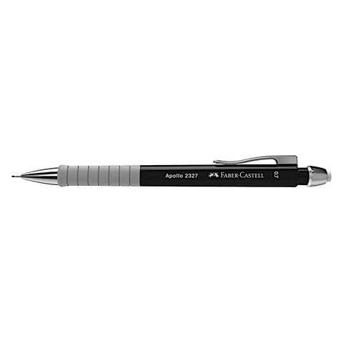 Faber Castell Apollo Mechanical Pencil | Triangular Grip 0.7mm - Black